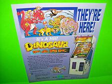Purple Star DINOSAUR PARK Arcade Game NOS Sales Flyer Pinball Machine Redemption