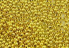 Gold Plated Smooth Ball Spacers Beads 200 x 3mm