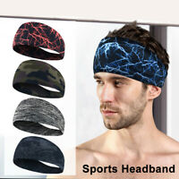 Unisex Sports Sweat Sweatband Headband Elastic Wide Head Band Hairband Yoga Gym
