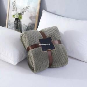 2.3-6.5ft Flannel Blanket Fleece Warm Soft Throw Blanket Sofa Bed Sleep Rug Home
