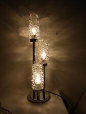 Mid Century 70er Chrom Bubble Glas Tisch Lampe Desk Lamp #<