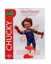 Chucky CHILDS PLAY-Head Knocker-Chucky with Knife-NECA BOBBLEHEAD *MINOR BOX DAM