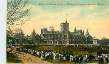 Canada, Toronto, Cadet Full Dress Parade on University Campus 1914 Postcard