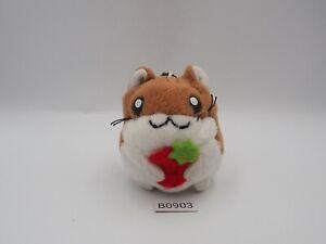 "Hamster Club B0903 Animal Zipper Keychain 3"" Mascot Plush Toy Doll Japan"
