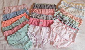 18 PAIRS   12-13yrs Girls Pretty Print Brief Panties Ladies Knickers    18 PAIRS