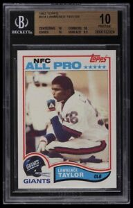 1982 Topps Football Lawrence Taylor ROOKIE RC ALL-PRO #434 BGS 10 PRISTINE