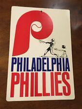 """VINTAGE 1970s MLB FLEER BIG Philadelphia Phillies  8"""" X 11""""  CARDBOARD SIGN"""