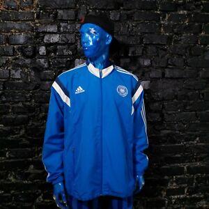 Germany Team Training Jacket With Zipped Blue Adidas F86388 Mens Size 2XL