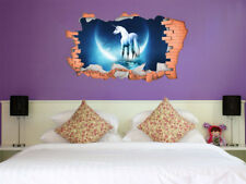FULL COLOUR Unicorn Smashed Wall,Transfer, 3D Sticker, Decal, Wall Art