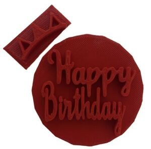 Happy Birthday Embosser / Stamp for Fondant / Cupcake / Cake / Cookie  Cutter