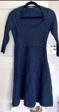 Zac Posen Navy Blue Cotton Stretch A Line Dress
