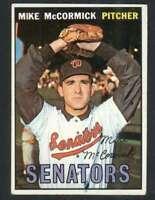 1967 Topps #86 Mike McCormick EX/EX+ Senators ERR 57101