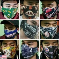 proSEWER20+yrs brand new NFL, NBA, MLB, ETC face masks 3LAYRS filter pocket USA
