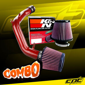 For 01-06 VW Golf GTI 1.8T 1.8L 4cyl Red Cold Air Intake + K&N Air Filter