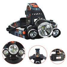12000LM 3 x XML CREE T6 LED Rechargeable HeadTorch Headlamp Light Lamp FA3X