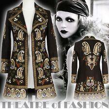 COAT JACKET VINTAGE 70s 60s S M L BOHO HIPPY ART GODDESS RARE INDIAN DRESS EPIC