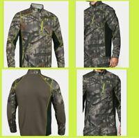 Under Armour Scent Control CGI 1/4 Zip Jacket Mossy Oak Treestand Men's Medium