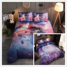 Unicorn Dreamcatcher Duvet Quilt Cover Set Pillowcase Bedding Set Single Double