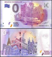Zero 0 Euro Europe,2017 - 1 (1st Print),UNC,Miniatur Wunderland,Hamburg Germany