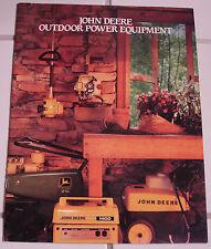 1987 John Deere Outdoor Power Equipment Brochure