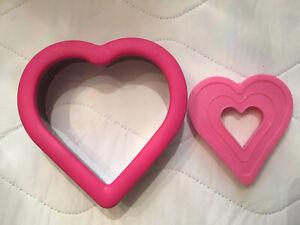 Wilton HEART COOKIE CUTTER Metal/  Comfort Grip & Plastic Smaller Heart