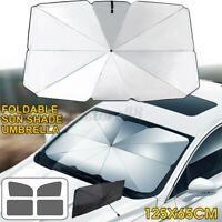 125x65cm Foldable Car Windshield Sunshade Front Window Cover Sun Visor Umbrella