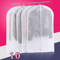 10x Clothes Dust Cover Non-woven Zip Garment Suit Dress Storage Hanger Bags Home