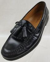 Cole Haan Mens Loafers Black Leather Tassel Kiltie Moc Toe Slip On Shoes Sz 8.5D