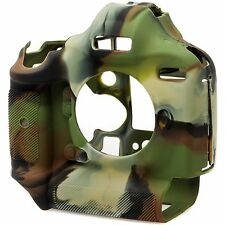 easyCover Silicone Skin Cover Canon 1DX / 1DX II Mk 2 in Camouflage + Screen Pro