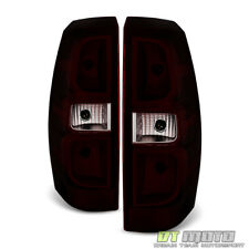 Red Smoke 2007-2013 Chevy Avalanche Tail Lights Lamps Aftermarket Set Left+Right