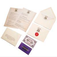 Carta de aceptación Hogwarts castellano personalizada Harry potter regalo fans