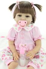 "ON SALE 22"" Handmade Reborn Dolls Silicone Vinyl Baby Girl Doll+Clothes+Pacifier"