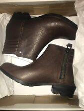 NIB Sorel Women Danica Short Booties Tobacco / BritishTan - 11 US - retail $175