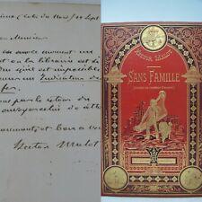 Sans Famille  enrichi d'une lettre d'Hector Malot Hetzel 1888
