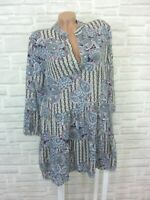 Blogger Hängerchen Kleid Tunika Volant Print 36 38 40 42 NEU K419 ITALY