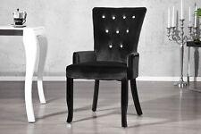 SEDIA POLTRONA DIMENSION nero con strass velluto aspetto BAROCCO DESIGN