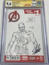 Avengers #24 Signed Stan Lee Original Daredevil Sketch Frank Miller CGC 9.6 SS