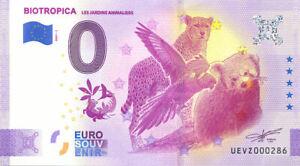 27 VAL-DE-REUIL Biotropica, 2021, Billet Euro Souvenir