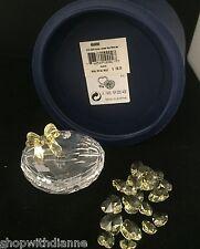 Swarovski Crystal 2004 Anna's Jewel Box with 19 Yellow Hearts Retired w/ Box