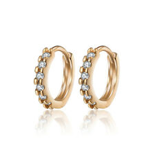 18 k Gold Plated Jewellery Small Baby Girls First Zircon Earrings E988
