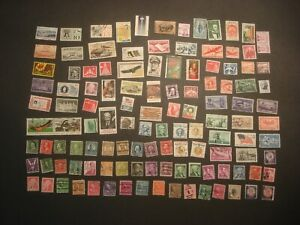 Small collection 120 Vintage USA Postage Stamps Private Perf, Canal, Precancels!