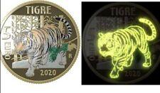 2020 ITALIA 5 Euro TIGRE Proof Animali in estinzione IPZS Disponibiltà immedita