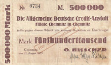 Chemnitz - G. Hilscher - 500.000 Mark - 11.8.1923