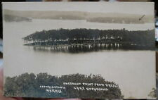 c1910 Chestnut Point from Breslin Lake Hopatcong NJ real photo postcard view