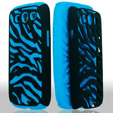 For Samsung Galaxy S III 3 i9300 Hybrid Zebra Fusion Case Phone Cover Black Blue