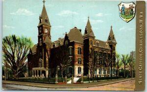 1910s Charleston, West Virginia Embossed Postcard State Capitol Building UNUSED