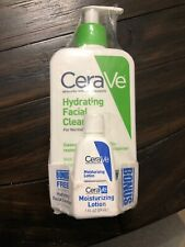 CeraVe Hydrating Facial Cleanser 12 FL OZ + 1 FL OZ  Daily Moisturizing Lotion,