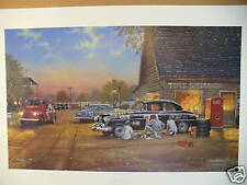 """Dave Barnhouse Print """"A FINISHING TOUCH"""" Limited Edition # 762 of 1950"""