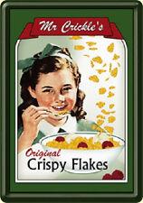 Mr Crickles Crispy Flakes Blechpostkarte Blechschild 10 x 14 cm *Angebot*