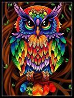 Decor Owl - Chart Counted Cross Stitch Patterns Needlework DIY DMC Color